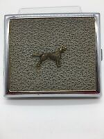 Antique Vintage Ornate Cigarette Case & Hunting Dog