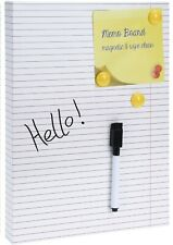 A4 Size Magnetic Memo Board Striped Paper effect With Pen & Magnets