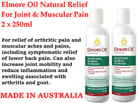 2 x 250ml ELMORE OIL Natural Pain Relief For Joint & Muscle Pain (TWIN Pack Deal