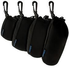 S, M, L & XL Pack 4 Bolsa de Neopreno para Objetivos Lentes para Reflex SLR DSLR