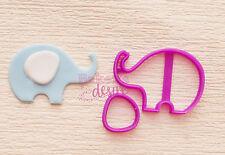 Cute elephant baby shower new born cake cupcake cookie fondant cutter UK seller