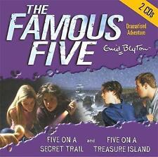 FIVE ON TREASURE ISLAND & FIVE ON A SECRET TRIAL- Enid Blyton CD-Audio 2004 NEW