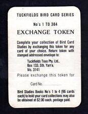 Vintage Tuckfields Bird Card Series Exchange Token