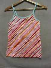 V5442 Victoria's Secret Orange/Pink/Blue/White Striped Top Women XS/S