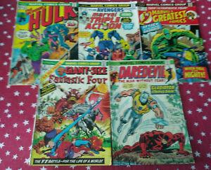 Marvel Lot of 5 Issues Hulk #173 Triple Action #22 Greatest #53 Daredevil #113+