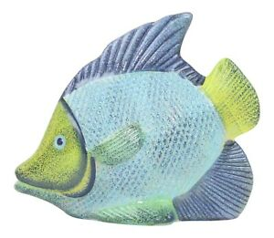 Home Decor Ornament Blue Green Tropical Fish Lounge Bathroom Decorative Statue