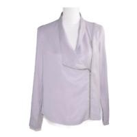 Trouve Womens Jacket Moto Coat Zipper Long Sleeves Gray Work Ladies Size Small