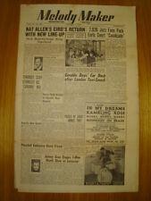 MELODY MAKER 1949 JAN 1 NAT ALLEN JAZZ PLEYDELL JAZZ
