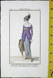 Roger Broders,Robe de The en velours,Journal des Dames et des modes,1912.#24