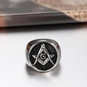 Freemason Heavy Stainless Steel Ring  7-14 FM 09