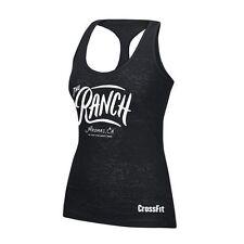 "REEBOK CROSSFIT HER'S Black ""The Ranch"" Tank, Sz M NWT"