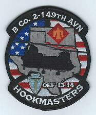 """B CO 2-149TH AVN OEF 13-14 """"HOOKMASTERS"""" #2 patch"""