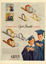 1950 vintage Ad, GRUEN Watches, Graduation Gifts -092613