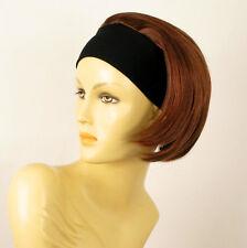 Perruque avec bandeau châtain cuivré méché blond clair/rouge ref AMANDA 33H130