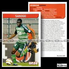 SANOGO BOUBACAR (AS SAINT-ETIENNE) - Fiche Football 2009