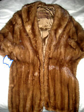 Tailored Fifth Avenue Fifty Seventh St. New York Mink Fur Stole Shrug Jacket- LN