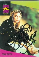 DEBBIE DEBORAH GIBSON NICE SIGNED EARLY COLOR TRADING CARD