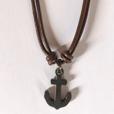 Fossil Herren Halskette Braun Leder Anker Anchor Necklace Men JOF00532793