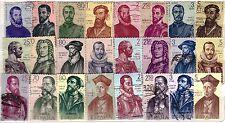 ESPAÑA Forjadores 1960-1962. sellos usados en general bien conservados