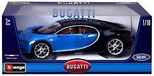 BBURAGO 2016 BUGATTI CHIRON BLUE 1:18 DIECAST MODEL CAR 11040BL