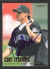 1996 FLEER #366  Curt Leskanic  COLORADO ROCKIES  SIGNED AUTOGRAPH AUTO COA