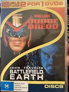 Judge Dredd Battlefield Earth DVD WV1 Stallone and Travolta!