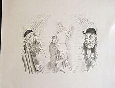 LABOUREUR JEAN EMILE, pointe seche originale, illustre Judith de Girauddoux, di
