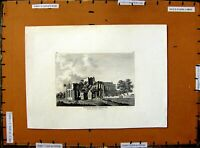 Old Antique Print 1783 Lanercost Priory Cumberland Architecture Hooper 18th