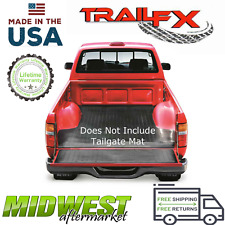 TrailFX Nyracord Textured Black Bed Mat Fits 2019 Ford Ranger 5' Bed