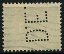 "Netherlands 1921 SG#242, 5c Green Used Perfin ""D.E."" #D71356"
