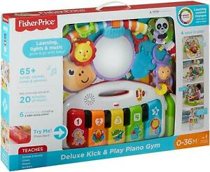 Fisher Price Deluxe Kick & Play Baby Piano Gym Mat with Lights and Sounds