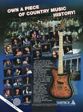 """1994 VINTAGE 8X11 Print Ad for SAMICK CLASSIC """"T"""" SERIES GUITAR VINCE GILL"""