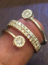 Classy 0.85 Cts Round Brilliant Cut Natural Diamonds Engagement Ring In 14K Gold