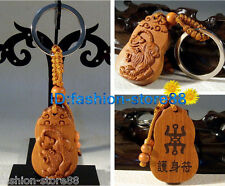 Classical Carved wooden Zodiac key chain keyring (Lucky Lovely Tiger)