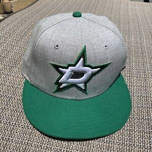 New Era Dallas Stars NHL Hockey Gray Fitted Hat Size 7