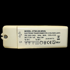Halogen Trafo 60W dimmbar Halogentrafo Transformator 12V Netzteil Treiber ET 60