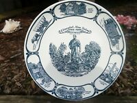 1950's souvenir plate. Lincoln's New Salem, ILL STATE PARK AMERICAN IRONSTONE
