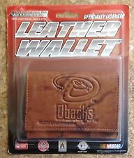 ARIZONA DIAMONDBACKS  EMBOSSED LEATHER TRIFOLD WALLET BILLFOLD MLB LICENSED NEW