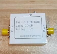 1PC RF broadband low noise amplifier 0.1-2000MHz gain 30dB high-frequency amplif
