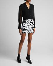 Alice + Olivia 12 Sequin Zebra Mini Skirt NWT