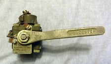 """Vintage WORCHESTER Brass Ball Valve Type P-398-S 1/2"""" 600 PSI USED US Military"""