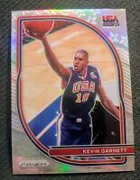 2020-21 Panini Prizm Kevin Garnett USA Basketball #4 Silver Prizm