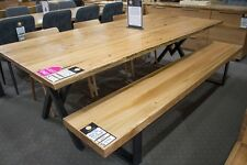 Pyrmont - Solid Messmate Timber Bench - 2400mm Wide