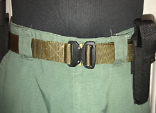 Mens Military Tactical Gun Belt Buckle Combat Waistband Adjustable USA - BROWN