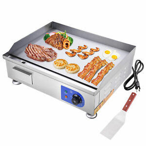 """2500W 24"""" Electric Countertop Griddle Flat Top Commercial Restaurant BBQ Grill"""