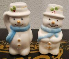 Snowman  Salt And Pepper Set Cracker Barrel NEW!