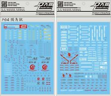 US Seller D.L Waterslide Decal for PG 1/60 RX-0 Unicorn Gundam Gunpla
