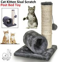 Sisal Scratch Bed Kitten Play Toy Fun Post With Pet Cat Tunnel Pet Activity UK