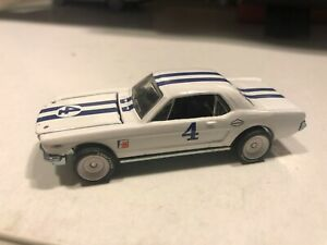 1/64 1966 FORD MUSTANG A.J. FOYD'S #4 WHITE AND BLUE STRIPES
