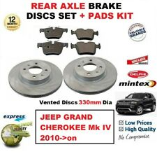 FOR JEEP GRAND CHEROKEE Mk IV 2010->on REAR AXLE BRAKE PADS + Vented DISCS 330mm